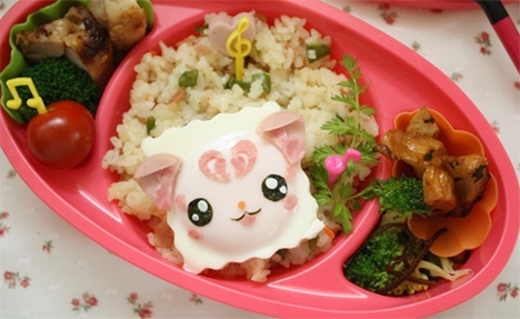 Charaben character bento menu cooking with kathy man for J kitchen korean japanese restaurant