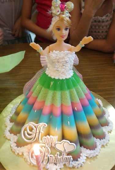 Stupendous Barbie Doll Birthday Cakes Cooking With Kathy Man Birthday Cards Printable Opercafe Filternl