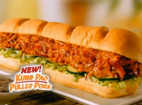 New kung pao pulled pork sandwich from subway cooking for J kitchen korean japanese restaurant