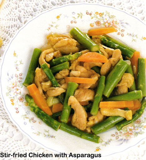 Chicken With Asparagus And Three Cheeses Recipe — Dishmaps