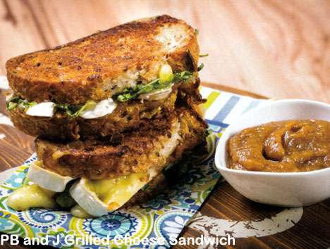Grilled Brie Cheese Sandwich with Peanut Butter and Fig ...